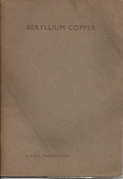 Image for Beryllium Copper