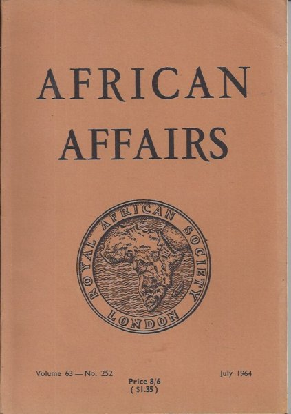 Image for African Affairs Volume 63 No. 252 July 1964 Journal of the Royal African Society