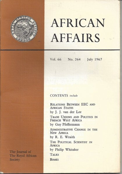 Image for African Affairs Volume 66 No. 264 July 1967 Journal of the Royal African Society