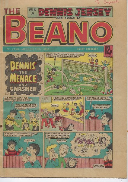 Image for Beano No. 2196 Comic - August 18th 1984