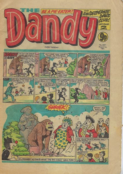 Image for Dandy No. 2071 Comic - August 1st, 1981